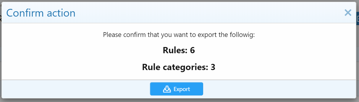 Rules export
