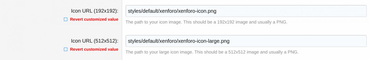Publishing a pair of icons