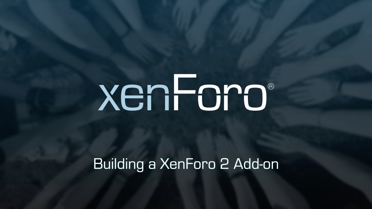 Video series logo - Building with XenForo 2