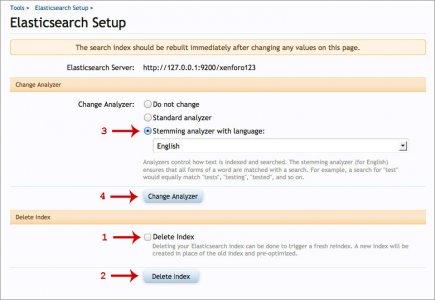 How to: ElasticSearch stemming analyzer setup   XenForo