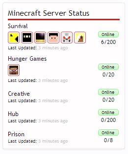 Herocraft Development ] Minecraft Server Status Block [Paid