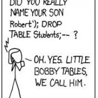 #327'; DROP TABLE posts;