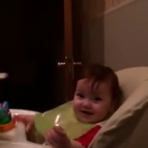 Baby's reaction to music