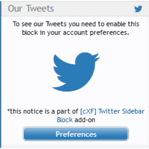 Twitter Notice example on customizexf.com