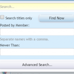 [cXF] QuickSearch Customization: Example without useful searches menu