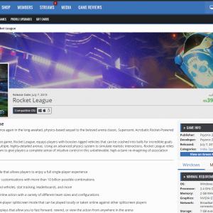 Rocket League Store Page