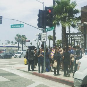 "Cassie M Thompson on Instagram: ""Line around the block at #BlazePizza on Sepulveda in #LosAngeles. If you're on your way, thinking you're gonna get some free pizza for king…"""