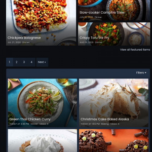 Recipes - Mobile view