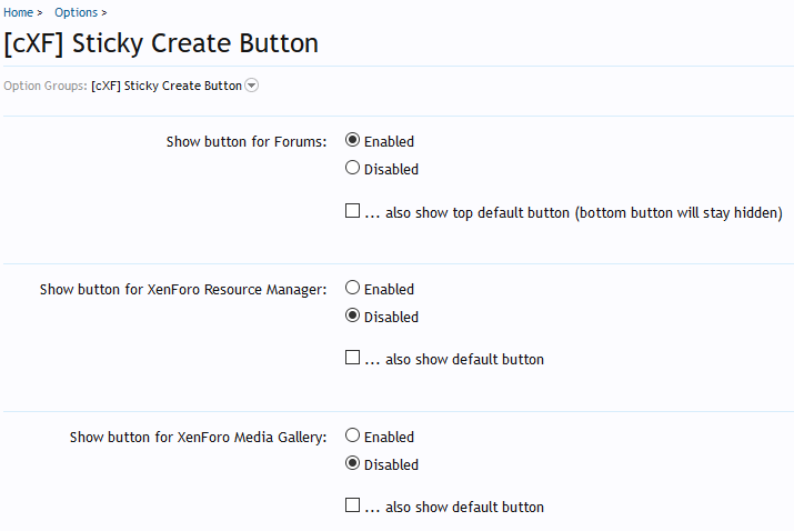 [cXF] Sticky Create Button: Options