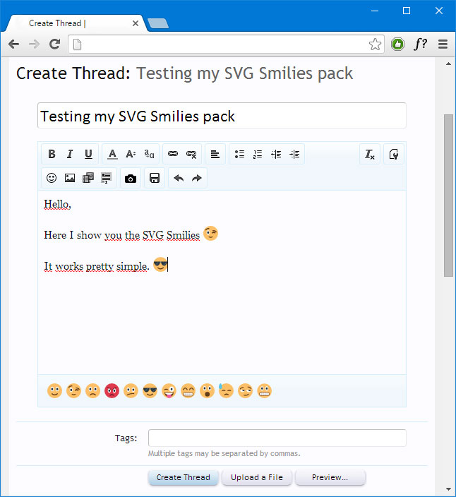SVG Smilies in Chrome browser