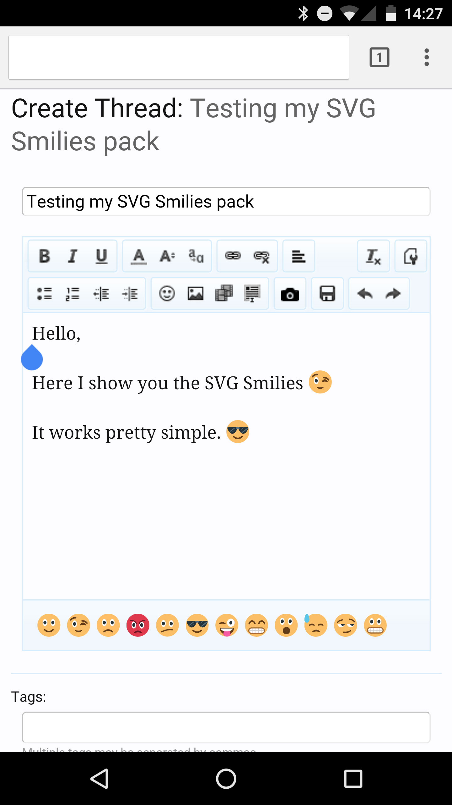 SVG Smilies on a high-res screen