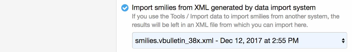 Importar emoticonosde un XML tras finalizar el proceso de importación
